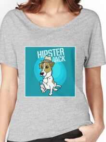 Hipster Jack Russell dog Women's Relaxed Fit T-Shirt
