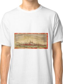 Erfurt Vintage map.Geography Germany ,city view,building,political,Lithography,historical fashion,geo design,Cartography,Country,Science,history,urban Classic T-Shirt