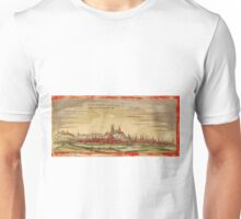 Erfurt Vintage map.Geography Germany ,city view,building,political,Lithography,historical fashion,geo design,Cartography,Country,Science,history,urban Unisex T-Shirt