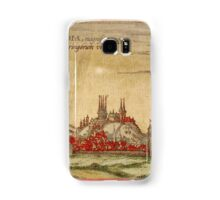 Erfurt Vintage map.Geography Germany ,city view,building,political,Lithography,historical fashion,geo design,Cartography,Country,Science,history,urban Samsung Galaxy Case/Skin