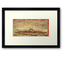 Erfurt Vintage map.Geography Germany ,city view,building,political,Lithography,historical fashion,geo design,Cartography,Country,Science,history,urban Framed Print