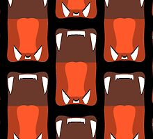 Lion Yawn Pattern by ezcreative