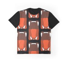 Lion Yawn Pattern Graphic T-Shirt