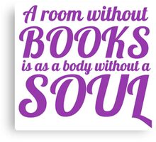 A room without books Canvas Print