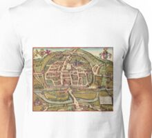 Exeter Vintage map.Geography Great Britain ,city view,building,political,Lithography,historical fashion,geo design,Cartography,Country,Science,history,urban Unisex T-Shirt