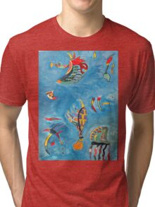 Detail Kandinsky's Sky Blue by kws Tri-blend T-Shirt