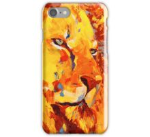 Lion jaune iPhone Case/Skin