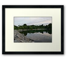 Summer Morning Tranquility - Lake Ontario in Toronto Framed Print