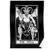 The Devil Tarot Card - Major Arcana - fortune telling - occult Poster
