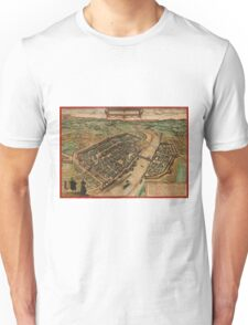 Frankfurt Am Main Vintage map.Geography Germany ,city view,building,political,Lithography,historical fashion,geo design,Cartography,Country,Science,history,urban Unisex T-Shirt