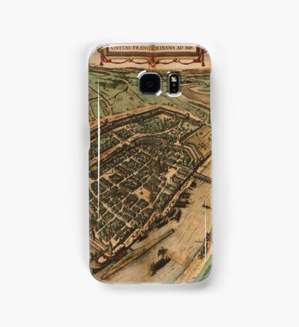 Frankfurt Am Main Vintage map.Geography Germany ,city view,building,political,Lithography,historical fashion,geo design,Cartography,Country,Science,history,urban Samsung Galaxy Case/Skin