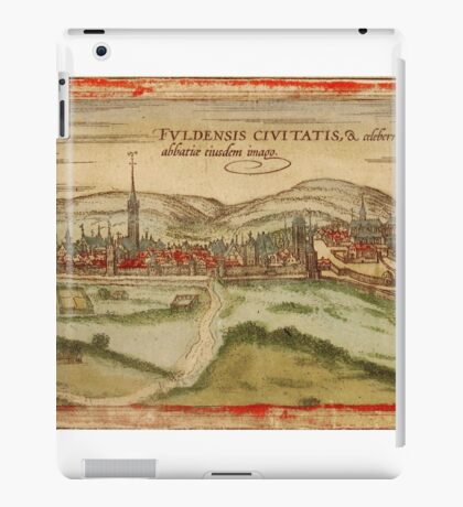 Fulda Vintage map.Geography Germany ,city view,building,political,Lithography,historical fashion,geo design,Cartography,Country,Science,history,urban iPad Case/Skin
