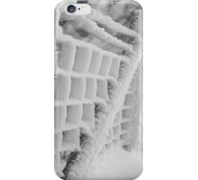 Snow covered fence iPhone Case/Skin