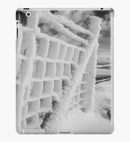 Snow covered fence iPad Case/Skin