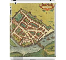 Galway Vintage map.Geography Irland ,city view,building,political,Lithography,historical fashion,geo design,Cartography,Country,Science,history,urban iPad Case/Skin