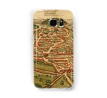Besancon Vintage map.Geography France ,city view,building,political,Lithography,historical fashion,geo design,Cartography,Country,Science,history,urban Samsung Galaxy Case/Skin