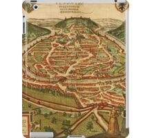 Besancon Vintage map.Geography France ,city view,building,political,Lithography,historical fashion,geo design,Cartography,Country,Science,history,urban iPad Case/Skin