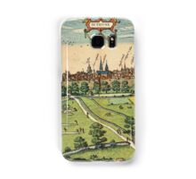 Bethune Vintage map.Geography France ,city view,building,political,Lithography,historical fashion,geo design,Cartography,Country,Science,history,urban Samsung Galaxy Case/Skin