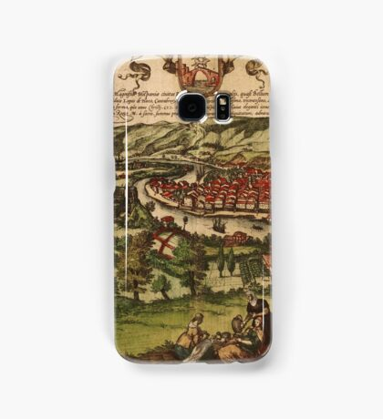 Bilbao Vintage map.Geography Spain ,city view,building,political,Lithography,historical fashion,geo design,Cartography,Country,Science,history,urban Samsung Galaxy Case/Skin