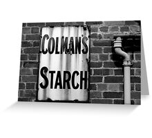 Colman's Sign Greeting Card