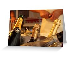 Celebrating with oysters and champagne Greeting Card