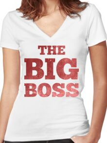 The Big Boss Women's Fitted V-Neck T-Shirt