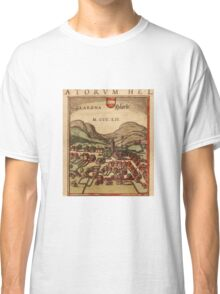 Glarus Vintage map.Geography Switzerland ,city view,building,political,Lithography,historical fashion,geo design,Cartography,Country,Science,history,urban Classic T-Shirt