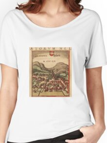 Glarus Vintage map.Geography Switzerland ,city view,building,political,Lithography,historical fashion,geo design,Cartography,Country,Science,history,urban Women's Relaxed Fit T-Shirt