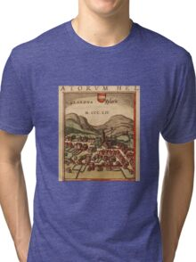 Glarus Vintage map.Geography Switzerland ,city view,building,political,Lithography,historical fashion,geo design,Cartography,Country,Science,history,urban Tri-blend T-Shirt