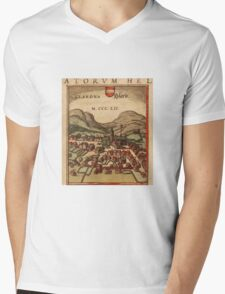 Glarus Vintage map.Geography Switzerland ,city view,building,political,Lithography,historical fashion,geo design,Cartography,Country,Science,history,urban Mens V-Neck T-Shirt