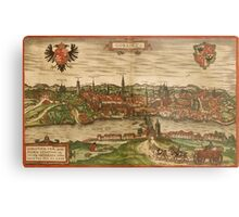 Gorlitz Vintage map.Geography Germany ,city view,building,political,Lithography,historical fashion,geo design,Cartography,Country,Science,history,urban Metal Print
