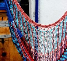 Hammock and a barrel by Michelle Neeling