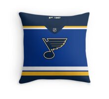 St. Louis Blues Home Jersey Throw Pillow
