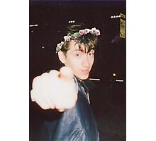 Alex Turner Flower Crown Photographic Print