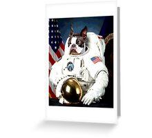 Astronaut Pug Greeting Card