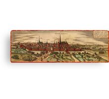 Groningen Vintage map.Geography Netherlands ,city view,building,political,Lithography,historical fashion,geo design,Cartography,Country,Science,history,urban Canvas Print