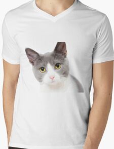 Cute cat Mens V-Neck T-Shirt