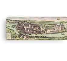 Haderslev Vintage map.Geography Netherlands ,city view,building,political,Lithography,historical fashion,geo design,Cartography,Country,Science,history,urban Metal Print