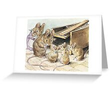 Don't go into the trap! Says Father Mouse Greeting Card