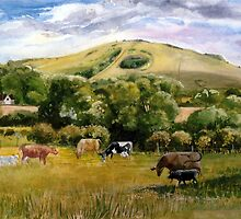 Wolstonbury Hill by Mary Faux Jackson by HurstPainters