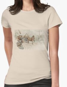 Little Piggy Went to Market Beatrix Potter illustration Womens Fitted T-Shirt