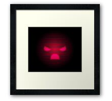Angry Neon Red Smile Framed Print