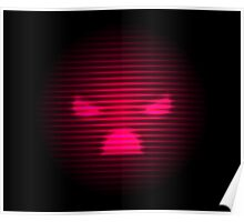 Angry Neon Red Smile Poster