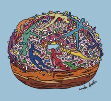 Human Donut Sprinkles One Piece - Short Sleeve