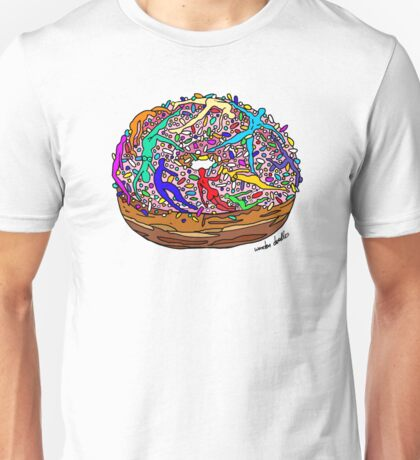 Human Donut Sprinkles Unisex T-Shirt