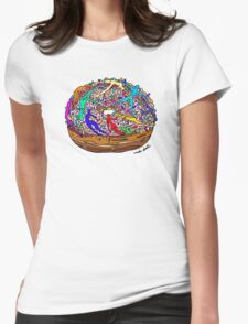 Human Donut Sprinkles Womens Fitted T-Shirt