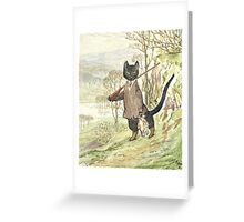 Hunting Black Cat by Beatrix Potter Greeting Card