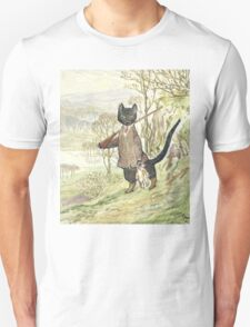 Hunting Black Cat by Beatrix Potter Unisex T-Shirt