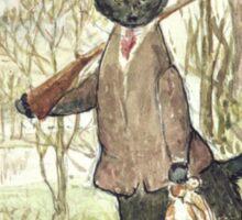Hunting Black Cat by Beatrix Potter Sticker