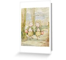 2 little pigs by Beatrix Potter Greeting Card